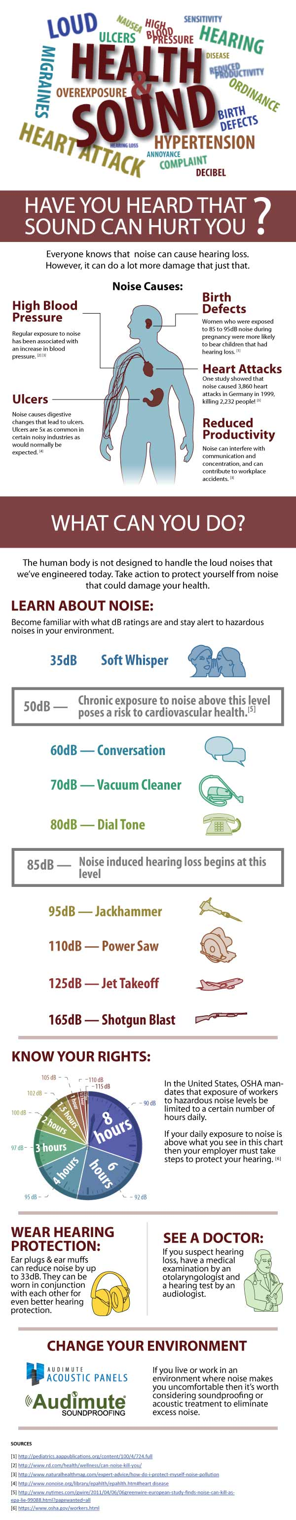 Health & Sound Infographic