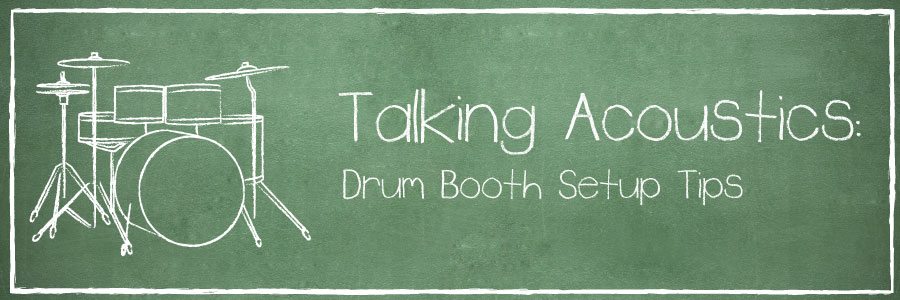 drum booth setup banner