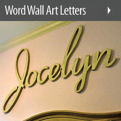 Audimute Acoustic Custom Word Wall Letter