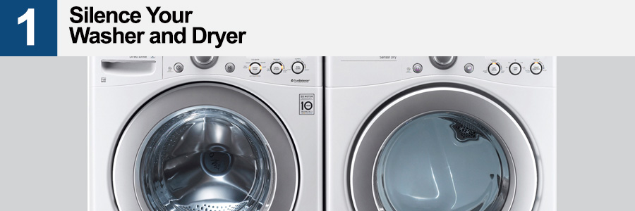 1. Silence Your Washer and Dryer