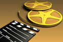 Cinema Theater Yellow Reels