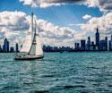 Cityscapes Skyline Boat