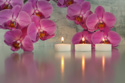 Floral Orchid Flower Candles