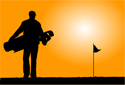 Sports Golf Orange Sun