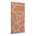White Veins Orange Marble Panels
