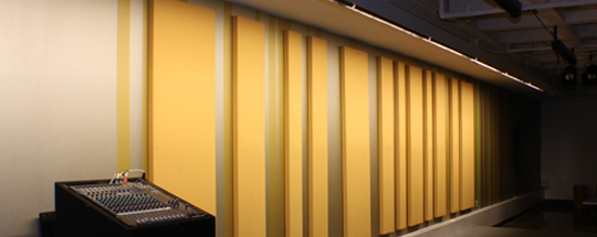 Acoustic Wall Treatment in University Performance Space | Audimute