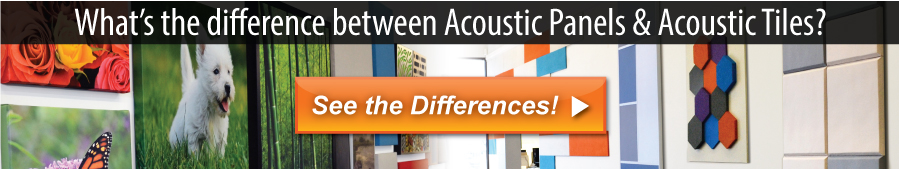 What's the difference between Audimute Acoustic Panels and Audimute Acoustic Tiles?