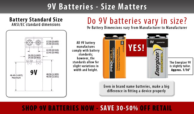 Duracell Vs Energizer 9 Volt Battery  Are All 9v Batteries
