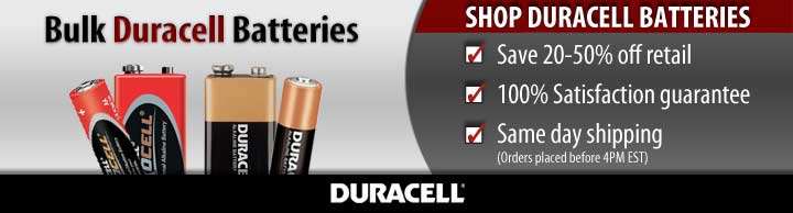 bulk Duracell batteries