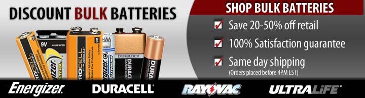 Bulk 9V Batteries