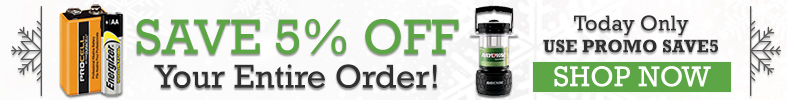 Save 5% off your Entire Order [12 Days of Holiday Sales]