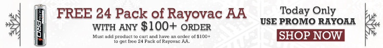 Free 24 Pack of Rayovac AAs - [12 Days of Holiday Sales]