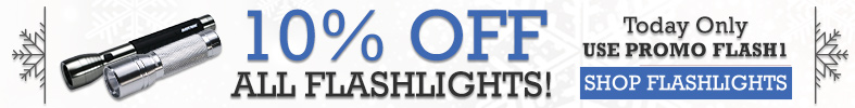 10% off Flashlights [12 Days of Holiday Sales]