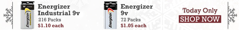 Energizer Industrial 9 Volt [12 Days of Holiday Sales]
