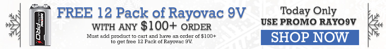 Free 12 Pack of Rayovac 9 Volts with Purchases over $100 - [12 Days of Holiday Sales]