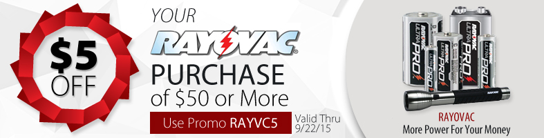 Rayovac Discount Promotion