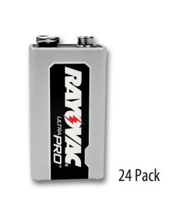 Rayovac 9V Battery 4 shrink wrapped packs of 6 uncapped batteries