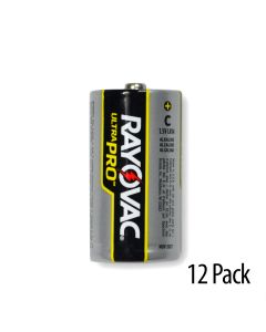 Rayovac Alkaline C Industrial Battery Reclosable 12/Pack