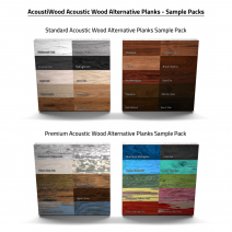 AcoustiWood™ Acoustic Wood Alternative Planks Swatch Sample Packs