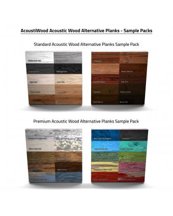 AcoustiWood™ Acoustic Wood Alternative Planks Sample Packs