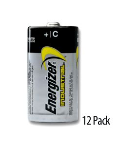 Energizer Industrial C Alkaline Battery 12/Pack - 12 pack of batteries, no inner packs