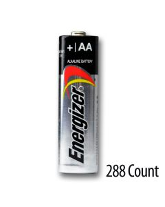 Energizer AA Alkaline Bulk Batteries 288 Count - 2 cases of 6 inner packs of 24 batteries