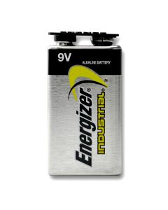 Energizer Industrial 9 Volt Alkaline Battery 6 inner packs of 12 capped batteries