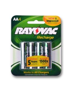 1 blister pack of 4 batteries