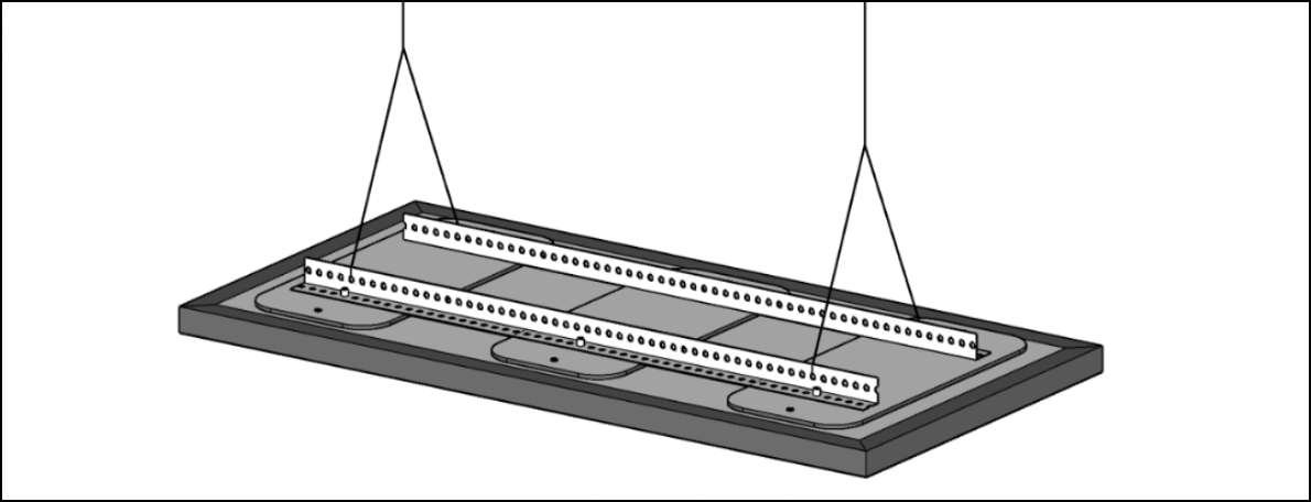 Fabric Ceiling Cloud Installation Option 2