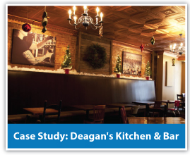 Deagan's Kitchen & Bar restaurant sound solution