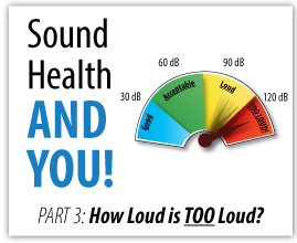 Damaging sound levels