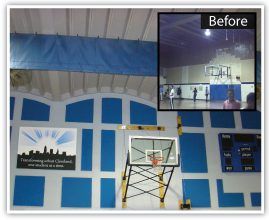 Saint Martin de Porres' gymnasium sound solution