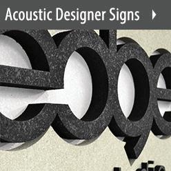 Audimute Acoustic Designer Signs
