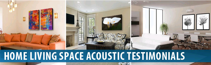 Audimute Home Living Spaces Acoustic Panels
