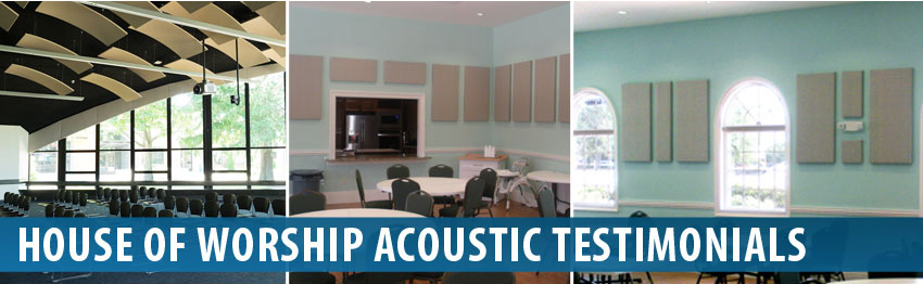 Audimute House of Worship Acoustic Panels