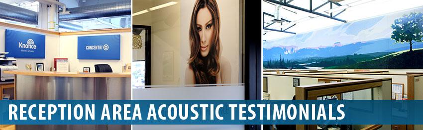 Audimute Reception Area Acoustic Panels