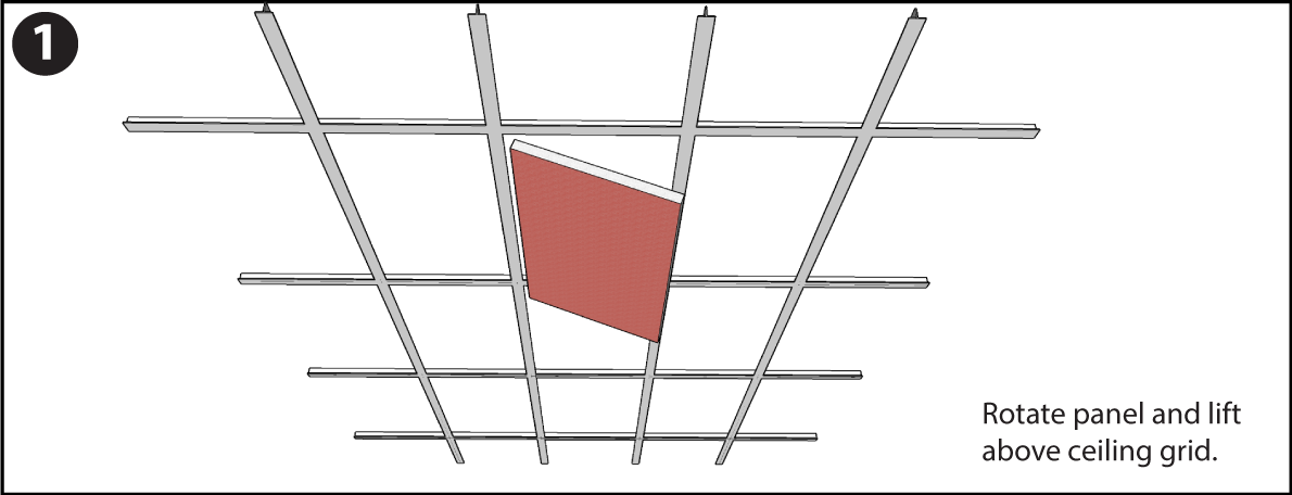 Drop Ceiling Tile Installation Instructions