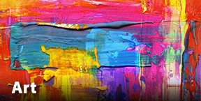 Colorful abstract art painting.