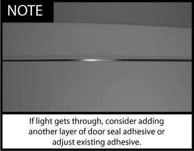 Acoustic Door Seal Installation Note 2