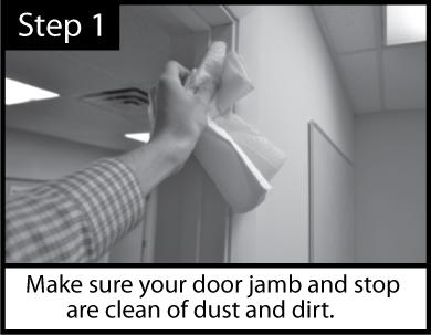Acoustic Door Seal Installation Step 1