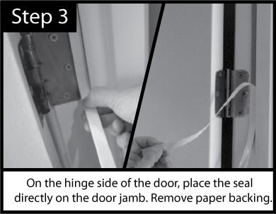 Acoustic Door Seal Installation Step 3
