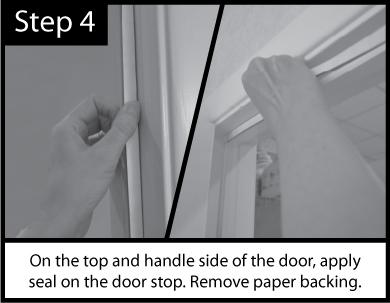 Acoustic Door Seal Installation Step 4