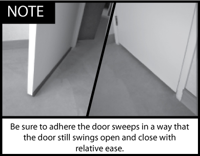 Acoustic Door Sweep Installation Note 1