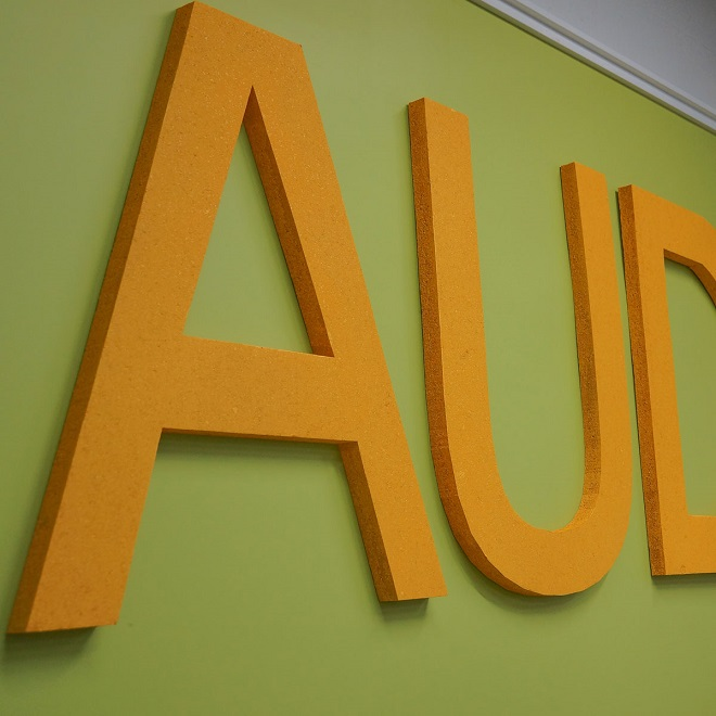 custom acoustic word wall art audimute