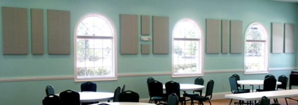 Acoustic First Congregational Church of Naples Standard & Custom Size Fabric Panels