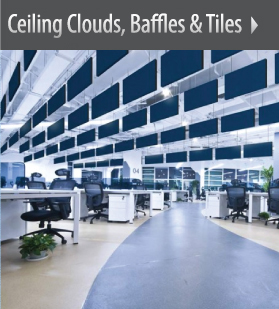 Ceiling Clouds, Baffles, & Tiles