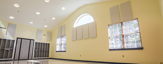 Acoustic panels for multi purpose room