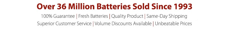 Over 36 Million Batteries Sold