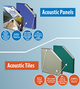 acoustic tiles vs. acoustic panels