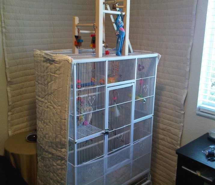 How to soundproof bird cage